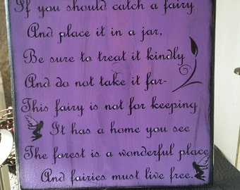 Primitive Wooden Fairy Sign So adorable