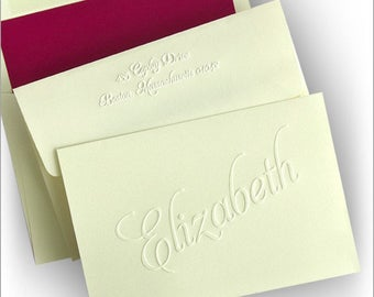Classic Embossed Notes - Personalized Notes- Fold Notes - 2793