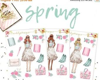 50% OFF SPRING GIRLS Stickers, Planner Stickers, Deco stickers, Spring Stickers