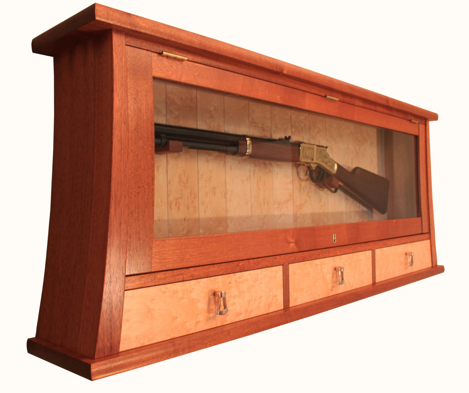 Custom made gun display case and cabinet - Custom made cabinet ...