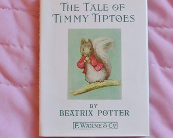 The Tale of Timmy Tiptoes, Beatrix Potter, children's story, bedtime story, gift for children, reading for children, children's book, books