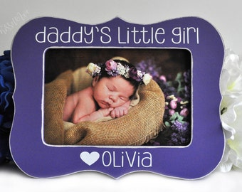 Fathers Day Gift for Dad Gift for Daddy Daddys Little Girl Father Gift Fathers Day Gift Personalized Picture Frame 4x6