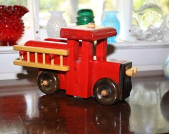 Wooden Toy Truck, folk art, handmade toy truck