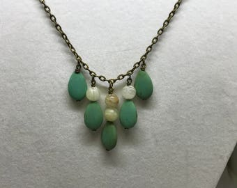 Italian jasper and howlite necklace