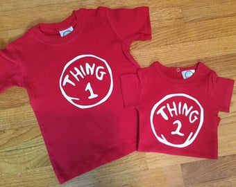 Thing 1 and Thing 2 Dr. Seuss shirts