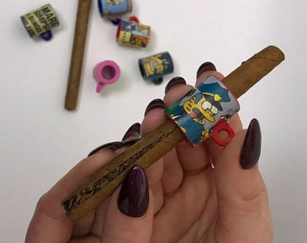 2 custom Simpsons blunt splitters