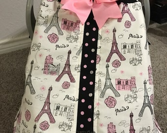 Paris infant car seat cover ready to ship