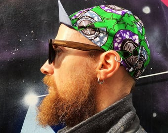 "ANNIBALE CYCLING CAP - Wax print cotton cycling cap ""Vostok"""