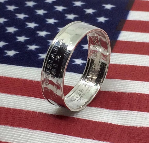 Silver Coin Rings from US State Quarters - Highly Polished, sizes 6-13 (Free Shipping)