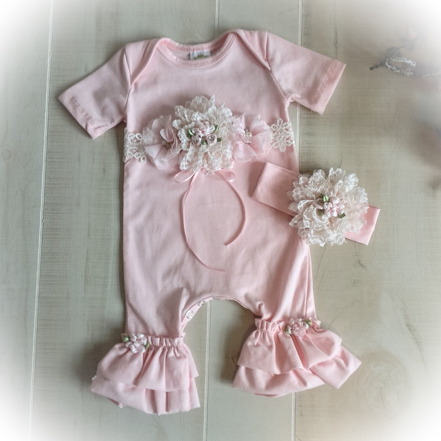 Baby Girl Coming Home Outfit Newborn Girl Take Home Pink