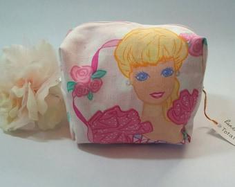 Barbie Makeup Bag Made From Vintage Sheets