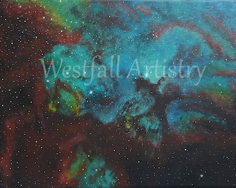 11 by 14 inches Nebula Painting
