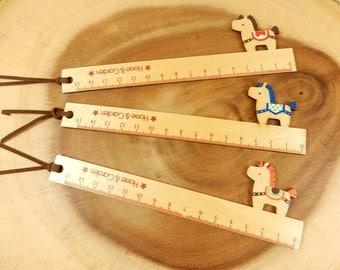 Horse Ruler, School Supplies, Animal Stationery, Wooden Ruler, Horses, 15cm Ruler