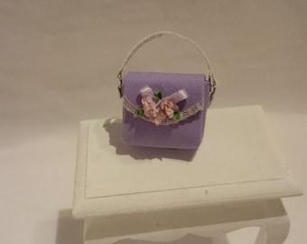 miniature purple bag in scale 1/12