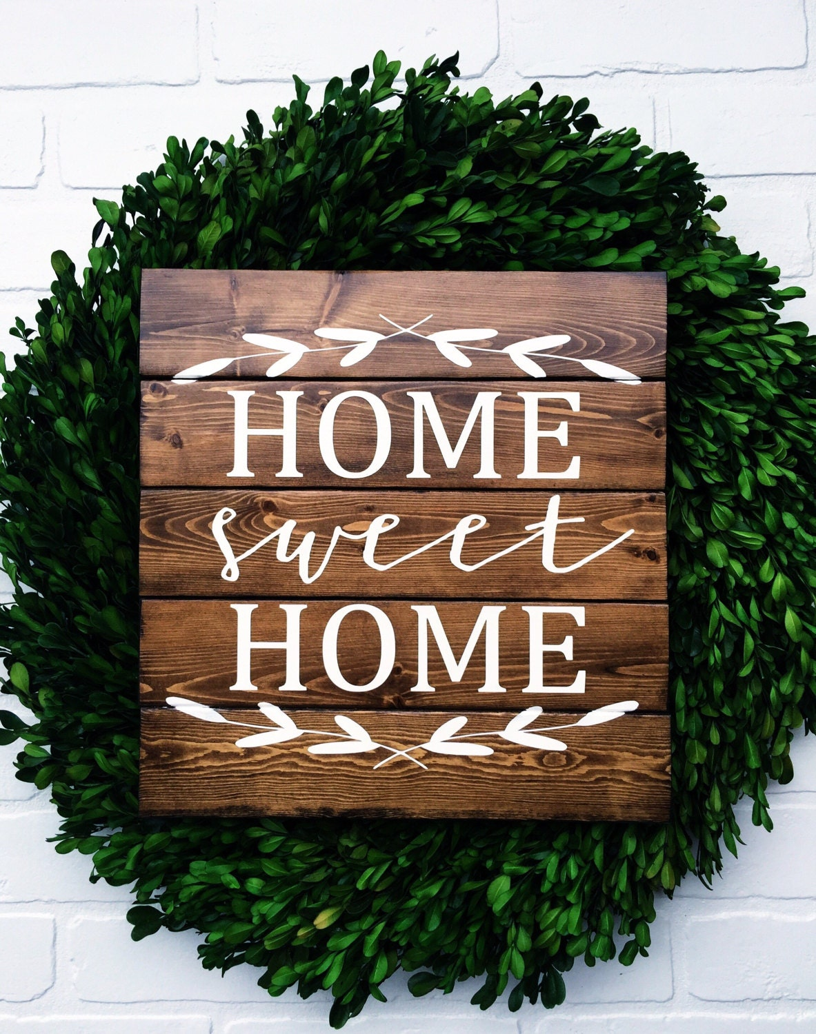 Home Sweet Home 12x12 Personalized Wood Sign Home Sweet