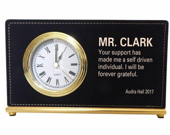 Retirement Gift to my Mentor, Appreciation Gift to Supervisor, Executive Director, Thank you Custom Gift to my Boss, Desk Clock, LB010