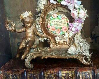 Devonshire Fairy Clock Case Gift Holder Shadow Box Art