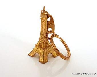 Little EIFFEL TOWER key ring key chain Paris France souvenir key ring keychain golden tone metal pocket French souvenir valentine's  A00/694
