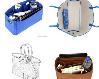 Bag Purse Organizer for Goyard St Louis Bags, Felt Purse Organizer, bag insert, Bag Organizer for Goyard St Louis (Express Shipping)