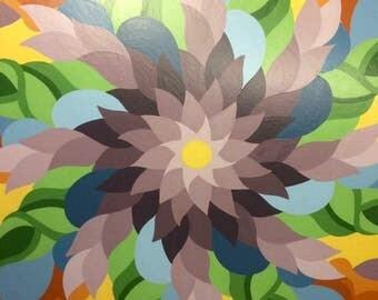 Custom radial design, hex, mandala