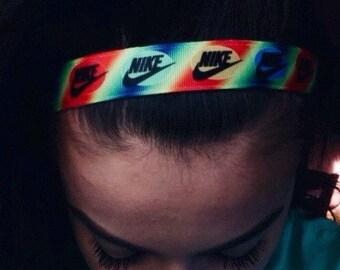 Colorful Nike no slip headband for guys and girls.