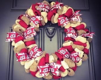 Cardinals Wreath, St. Louis Cardinals Wreath, St. Louis Cardinals Decor, Cardinals Fan Gift