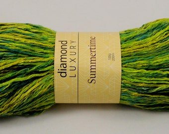 Worsted Weight yarn - Summertime by Diamond, color #161 Picnic