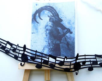 3 YARDS Music note ribbon, Black music notes musical ribbon, Christmas music note ribbon, Musical ribbon. UK Sellet
