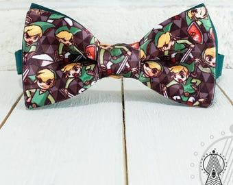 Bow Tie Link, Bowtie Zelda, Bow tie green, Men's bow tie, Women's bow tie, Children's bow tie