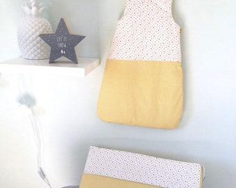 Ensemble Gigoteuse et tour de lit bébé coloris mixte jaune et multicolore