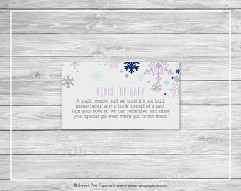 Winter Baby Shower Book Instead of Card Insert - Printable Baby Shower Books for Baby - Baby It's Cold Outside - Books for Baby - SP143