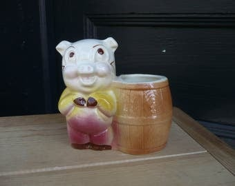 Pig and Barrel Planter