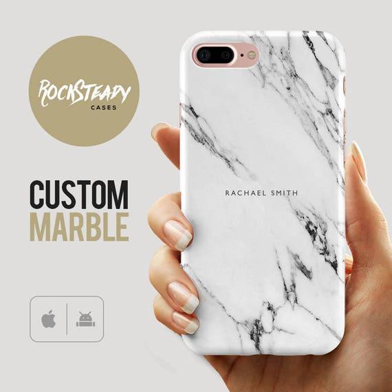 Custom Name Marble Phone Case Personalised IPhone 8 7