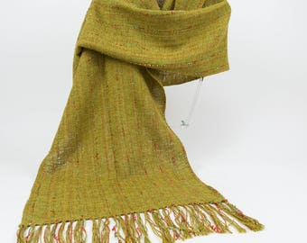 Handwoven Olive Green Rayon Shawl/Wrap