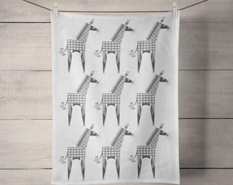 Giraffe Tiled Tea Towel