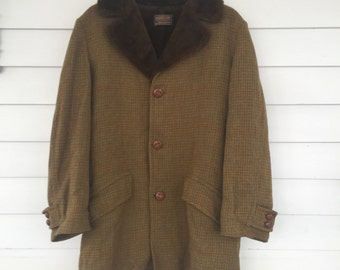 Vintage Sir Pendleton Single Breasted Wool Overcoat - Large