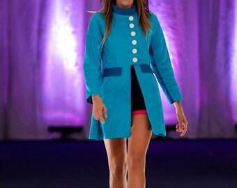 Women's Jacket / Two Toned Blue / Size 6