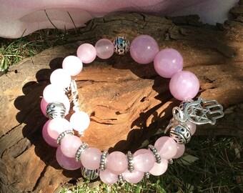 Pink jade bracelet, Pink jade memory wire bracelet, Yogo jewellery, Yoga bracelet, Boho jewellery, Boho jewellery, Pink jade jewellery, Jade