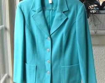 Blazer turquoise, size 44, warmer