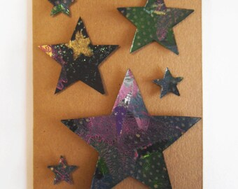 Superstar Arts Star Greetings Card -Handmade Die Cut Card Blank Inside, Birthdays, Thank You, Hello, Congratulations, Best Wishes, Good Luck