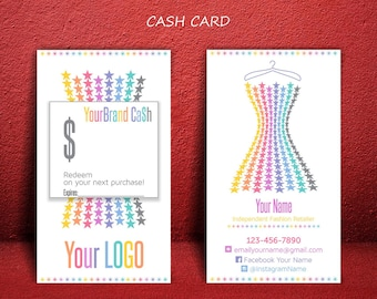 Cash Card * Roe Cash * Gift Certificate * Stars-Dress Design * Business Cards * LuLaCash * Cash Cards * Home Office Approved Fonts & Colors