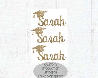 Custom Name Graduation Stickers, Graduation Envelope Seal, Glitter Graduation Stickers, Personalized Envelope Seal, Graduation Sticker,