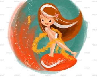 Mermaid art- Delphine