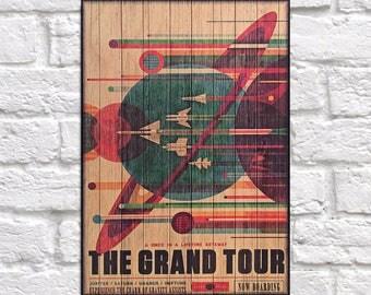 NASA space travel poster print Wood wall art gift for Boyfriend gift for Men gift for Husband gift for Kids gift for him Panel effect print