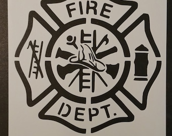Fire Department Custom Stencil FAST FREE SHIPPING