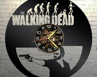 VINYL WALL CLOCK Walking Dead, best gift, original gift