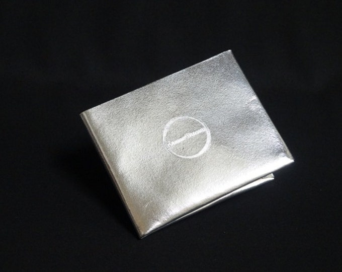 8-Pocket Wallet - Silver Chrome - Kangaroo leather with RFID credit card blocking - Handmade - James Watson