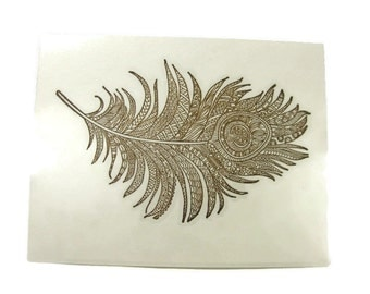 Feather Blank Cards Set of Five