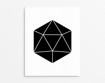 Geometry Poster, Abstract Art, Black Polygon, Modern Wall Art, Design Print, Modern Art, Home Poster, Large Print Sizes, Minimalist Home