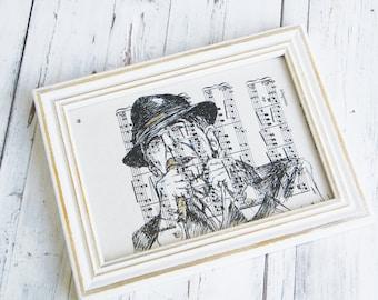 Leonard Cohen poster, Book art, Framed art print, Leonard Cohen framed print, Dictionary print, Leonard Cohen fan gifts